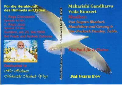 Maharishi Gandharva Veda Live Konzert 2009