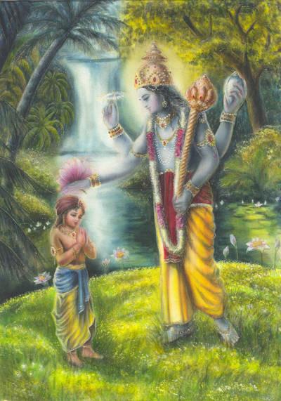 Maha-Wishnu und Dhruva